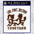 Hatchet Man Girl Live Decal Sticker BROWN Vinyl 120x120
