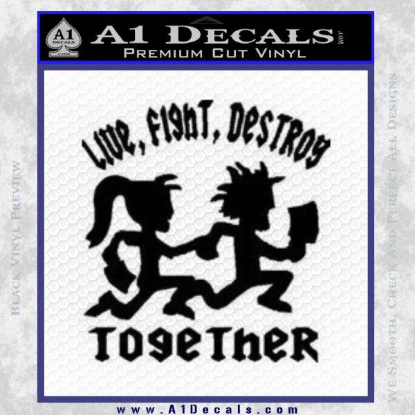 Hatchet Man Girl Live Decal Sticker Black Vinyl