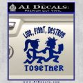 Hatchet Man Girl Live Decal Sticker Blue Vinyl 120x120