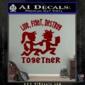 Hatchet Man Girl Live Decal Sticker DRD Vinyl 120x120