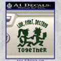 Hatchet Man Girl Live Decal Sticker Dark Green Vinyl 120x120
