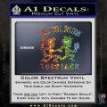 Hatchet Man Girl Live Decal Sticker Glitter Sparkle 120x120