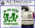 Hatchet Man Girl Live Decal Sticker Green Vinyl Logo 120x97