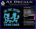 Hatchet Man Girl Live Decal Sticker Light Blue Vinyl 120x97