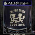Hatchet Man Girl Live Decal Sticker Metallic Silver Emblem 120x120