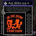 Hatchet Man Girl Live Decal Sticker Orange Emblem 120x120