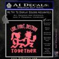 Hatchet Man Girl Live Decal Sticker Pink Emblem 120x120