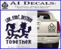 Hatchet Man Girl Live Decal Sticker PurpleEmblem Logo 120x97