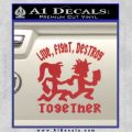 Hatchet Man Girl Live Decal Sticker Red 120x120