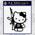 Hello Kitty AK 47 Decal Sticker Black Vinyl 120x120