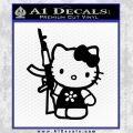 Hello Kitty AK 47 Decal Sticker Black Vinyl 120x120