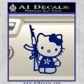 Hello Kitty AK 47 Decal Sticker Blue Vinyl 120x120
