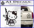Hello Kitty AK 47 Decal Sticker Carbon FIber Black Vinyl 120x97