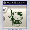 Hello Kitty AK 47 Decal Sticker Dark Green Vinyl 120x120