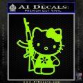 Hello Kitty AK 47 Decal Sticker Lime Green Vinyl 120x120