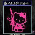 Hello Kitty AK 47 Decal Sticker Pink Hot Vinyl 120x120