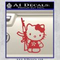 Hello Kitty AK 47 Decal Sticker Red 120x120