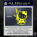 Hello Kitty AK 47 Decal Sticker Yellow Laptop 120x120