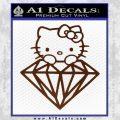 Hello Kitty JDM Diamond Decal Sticker BROWN Vinyl 120x120
