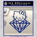 Hello Kitty JDM Diamond Decal Sticker Blue Vinyl 120x120