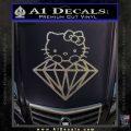 Hello Kitty JDM Diamond Decal Sticker Carbon FIber Chrome Vinyl 120x120