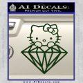 Hello Kitty JDM Diamond Decal Sticker Dark Green Vinyl 120x120
