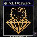 Hello Kitty JDM Diamond Decal Sticker Gold Vinyl 120x120