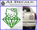Hello Kitty JDM Diamond Decal Sticker Green Vinyl Logo 120x97