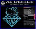 Hello Kitty JDM Diamond Decal Sticker Light Blue Vinyl 120x97