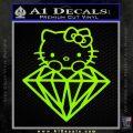 Hello Kitty JDM Diamond Decal Sticker Lime Green Vinyl 120x120