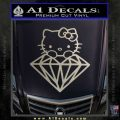Hello Kitty JDM Diamond Decal Sticker Metallic Silver Emblem 120x120