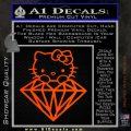 Hello Kitty JDM Diamond Decal Sticker Orange Emblem 120x120