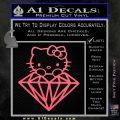 Hello Kitty JDM Diamond Decal Sticker Pink Emblem 120x120