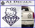 Hello Kitty JDM Diamond Decal Sticker PurpleEmblem Logo 120x97