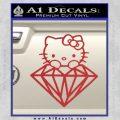 Hello Kitty JDM Diamond Decal Sticker Red 120x120
