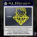 Hello Kitty JDM Diamond Decal Sticker Yellow Laptop 120x120