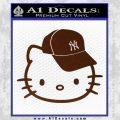 Hello Kitty NY Yankees Decal Sticker BROWN Vinyl 120x120