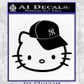 Hello Kitty NY Yankees Decal Sticker Black Vinyl 120x120