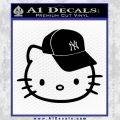 Hello Kitty NY Yankees Decal Sticker Black Vinyl 120x120