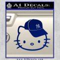 Hello Kitty NY Yankees Decal Sticker Blue Vinyl 120x120