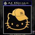 Hello Kitty NY Yankees Decal Sticker Gold Vinyl 120x120