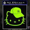 Hello Kitty NY Yankees Decal Sticker Lime Green Vinyl 120x120