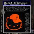 Hello Kitty NY Yankees Decal Sticker Orange Emblem 120x120