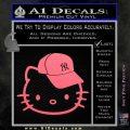 Hello Kitty NY Yankees Decal Sticker Pink Emblem 120x120