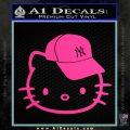 Hello Kitty NY Yankees Decal Sticker Pink Hot Vinyl 120x120