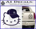 Hello Kitty NY Yankees Decal Sticker PurpleEmblem Logo 120x97