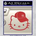 Hello Kitty NY Yankees Decal Sticker Red 120x120