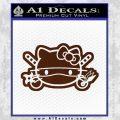 Hello Kitty Ninja Face D2 Decal Sticker BROWN Vinyl 120x120