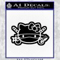 Hello Kitty Ninja Face D2 Decal Sticker Black Vinyl 120x120