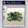 Hello Kitty Ninja Face D2 Decal Sticker Dark Green Vinyl 120x120